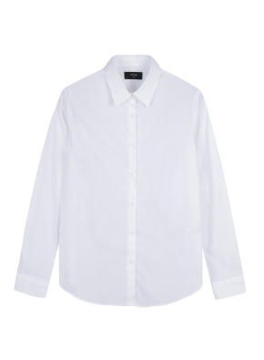 여성) 코튼나일론 포플린 기본핏 긴팔 셔츠