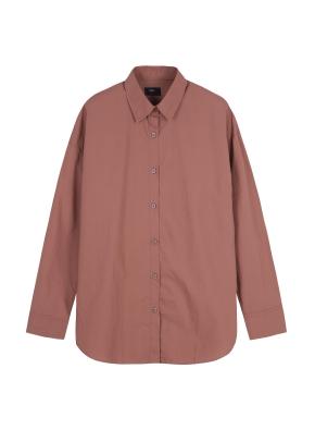 여성) 코튼 포플린 루즈핏 긴팔 셔츠