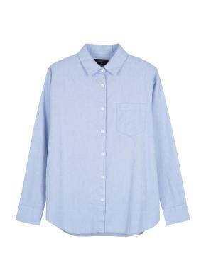 여성) 코튼 옥스포드 루즈핏 긴팔 셔츠