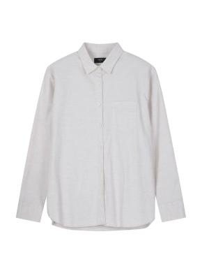 [2장 39,900원] 여성) 코튼 옥스포드 루즈핏 긴팔 셔츠