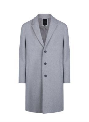 남성) 울 블렌드 싱글 코트 (GR)