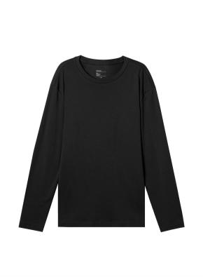 남성) 브러쉬드 크루넥 티셔츠 (BK)