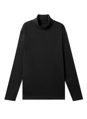 남성) 브러쉬드 터틀넥 티셔츠 (BK)