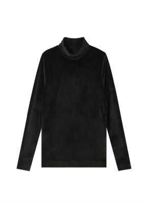 여성) 벨로아 터틀넥 티셔츠 (BK)