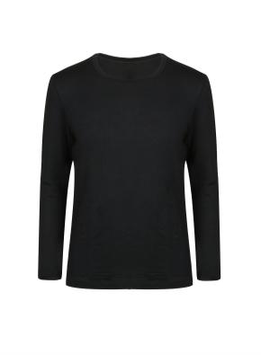 남성) 온에어 수퍼웜 크루넥 긴팔 티셔츠 (BK)