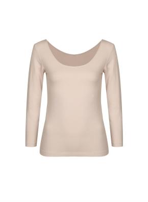 여성) 온에어 모달코튼 U넥 긴팔 티셔츠 (LBE)