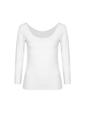 여성) 온에어 모달코튼 U넥 긴팔 티셔츠 (OWT)