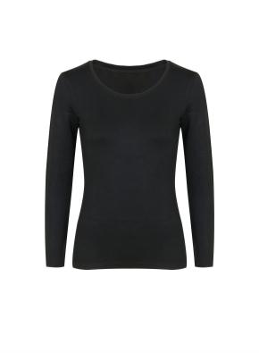 여성) 온에어 수퍼웜 크루넥 긴팔 티셔츠 (BK)