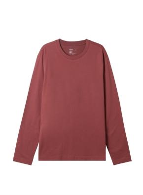 공용) 솔리드 크루넥 긴팔 티셔츠 (BC)