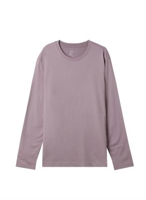 공용) 솔리드 크루넥 긴팔 티셔츠 (LVL)