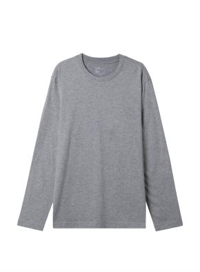공용) 솔리드 크루넥 긴팔 티셔츠 (MGR)
