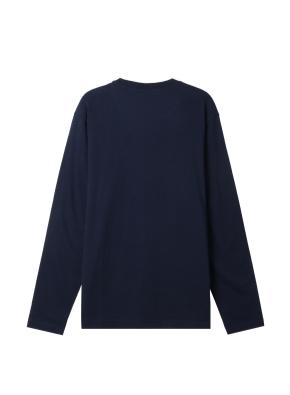 공용) 솔리드 크루넥 긴팔 티셔츠 (NV)