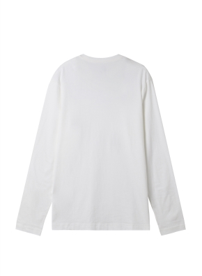 공용) 솔리드 크루넥 긴팔 티셔츠 (WT)
