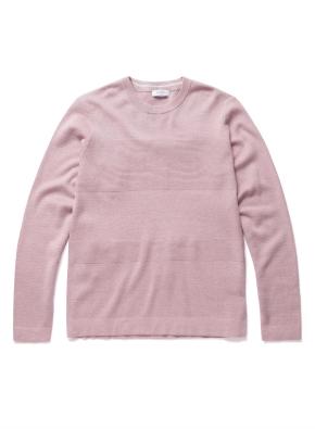 엠보 블록 코튼 스웨터 (PK)