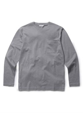 슬럽 코튼 포켓 라운드 티셔츠 (GBL)