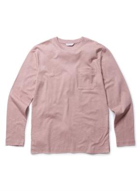 슬럽 코튼 포켓 라운드 티셔츠 (PK)