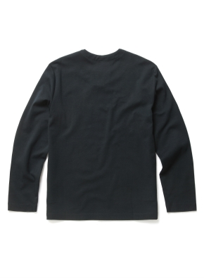 잔조직 슬릿넥 티셔츠 (PGN)