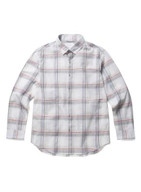 컬러 라인 윈도우 체크 셔츠