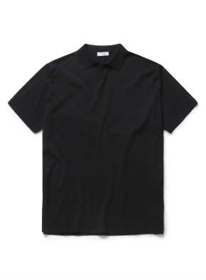 슬릿넥 오픈형 스웨터 (BK)
