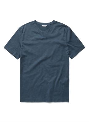 솔리드 슬릿넥 반팔 티셔츠 (BL)