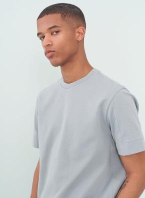 슬리브 소매 절개 포인트 반팔 티셔츠 (MT)