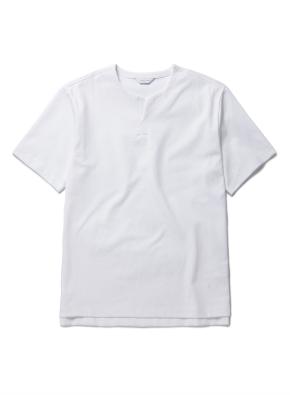 라운드 슬릿 변형넥 반팔 티셔츠 (WT)