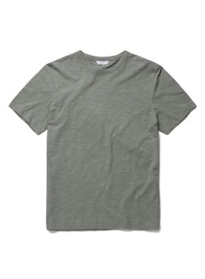 [위클리] 코튼 슬럽 반팔 티셔츠 (GN)