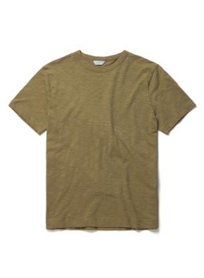 [위클리] 코튼 슬럽 반팔 티셔츠 (OL)