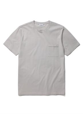 [미니멀 그레이] 슬럽 포켓 반팔 티셔츠 (GR)