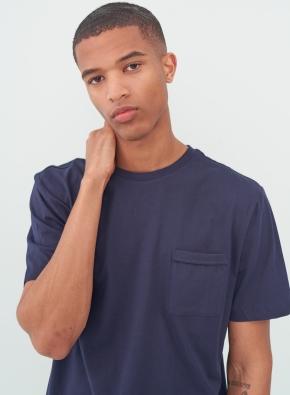 [미드나잇 네이비] 슬럽 포켓 반팔 티셔츠 (NV)