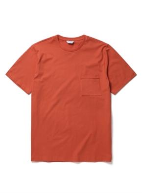 [시트러스 오렌지] 슬럽 포켓 반팔 티셔츠 (OR)