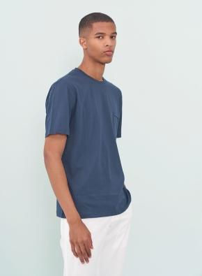 [피코크 그린] 슬럽 포켓 반팔 티셔츠 (PGN)