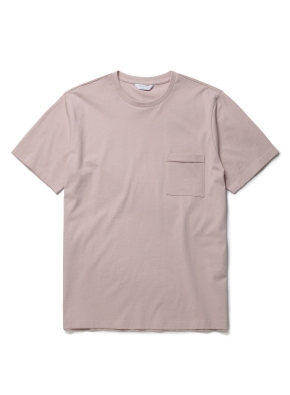 [더스티 핑크] 슬럽 포켓 반팔 티셔츠 (PK)