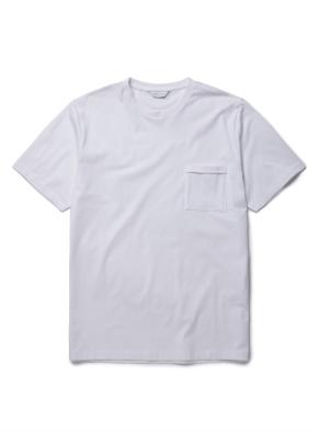 [퓨어 화이트] 슬럽 포켓 반팔 티셔츠 (WT)