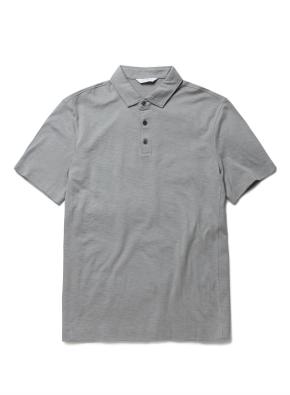 면 슬럽 카라 반팔 티셔츠 (GBL)