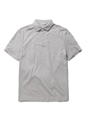 면 슬럽 카라 반팔 티셔츠 (LGR)