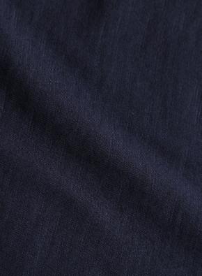 면 슬럽 카라 반팔 티셔츠 (NV)