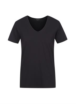 쿨데이 브이넥 반팔 티셔츠 (BK)