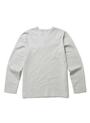 [20FW신상] 자수 라운드 슬릿 티셔츠