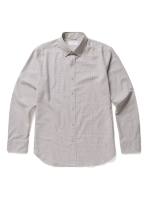 [20FW신상] 잔체크 자수 캐주얼셔츠