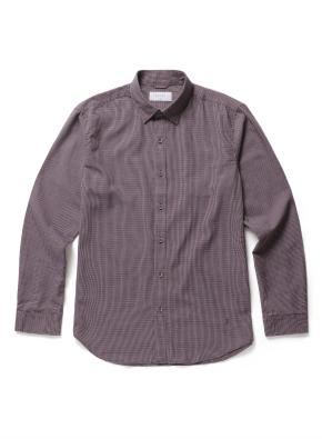잔체크 자수 캐주얼셔츠