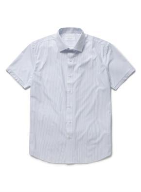 스트라이프 롤업 반팔셔츠