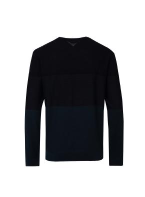 블록 스트라이프 울 스웨터 (PGN)