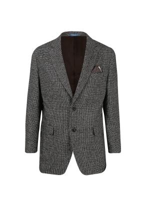 모혼방 부클 체크 재킷 (BG)