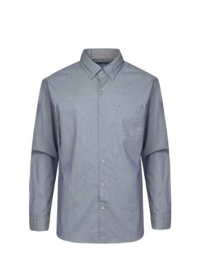 면혼방 세로 핀 스트라이프 셔츠 (GN)