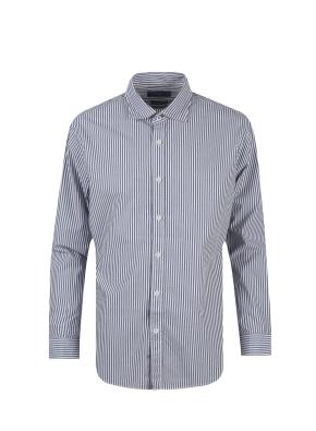 면혼방 아문젠 스트라이프 셔츠 (NV)