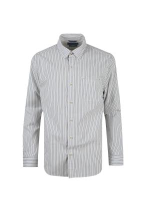 면혼방 스트라이프 셔츠 (BL)