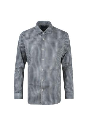 면혼방 미니 멀티 체크 셔츠 (GN)