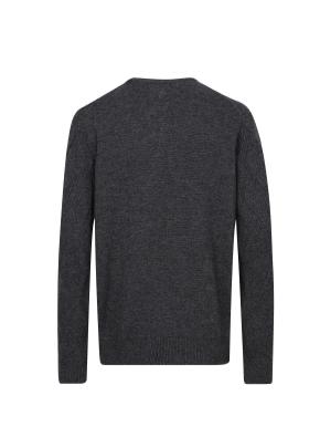 캐시미어 혼방 풀오버 라운드 스웨터