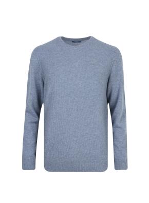 캐시미어 100% 라운드 스웨터 (MBL)